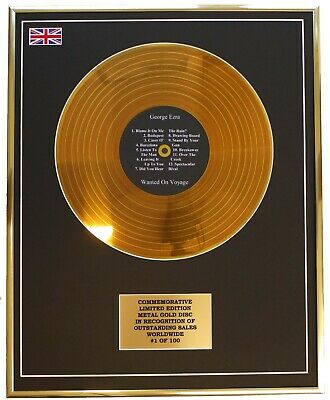 George Ezra - Wanted On Voyage Metal Gold Record Display Commemorative Ltd Ed