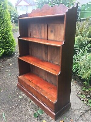 Antique Bookcase Georgian Waterfall Yabsley's Of Plymouth Mahogany 1800s