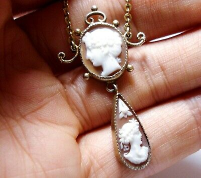 Beautiful Antique Victorian Cameo Necklace
