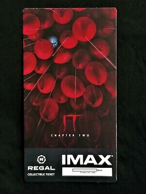 It Movie Chapter 2 IMAX Regal Collectible Ticket ! 3 Out Of 1,000 !