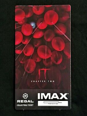 It Movie Chapter 2 IMAX Regal Collectible Ticket ! 43 Out Of 1,000 !