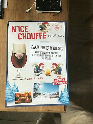 Nice Chouffe affiche beer sign new