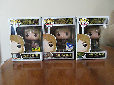 Kurt Cobain Funko Pop 65, 66, 67 - Lot of 3