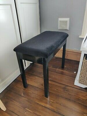Black Piano Stool With Compartment For Music