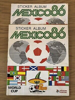 🔥Panini Mexico 86 World Cup 2 Albums .. UK Edition🔥