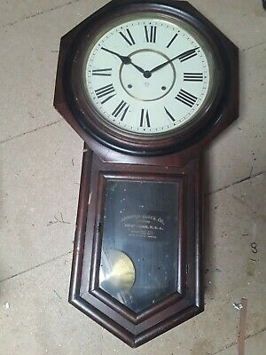 Antique American wall clock 1860 working