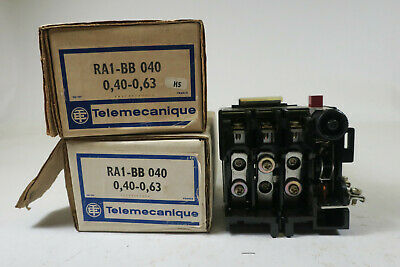 Telemecanique Thermal Overload Relay .40-.63A Type AM 0.5A (RA1-BB)