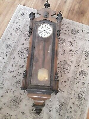 Antique German Single Weight Vienna Wall Clock