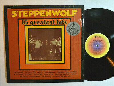 ROCK LP - STEPPENWOLF - 16 GREATEST HITS In Shrink ABC 1973 Club M-