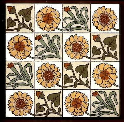 Antique Minton Arts & Crafts Tile C1870