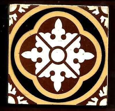 Antique Godwin Geometric Floor Tile C1890