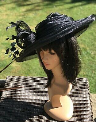 Peter Bettley Black Wedding Hatinator Hat Mother Of The Bride Formal Occasion