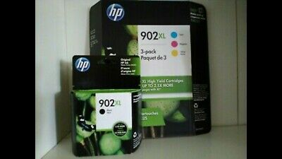 4-PACK HP GENUINE 902XL Black & 902XL Color Ink (NO RETAIL BOX) for OFFICEJET