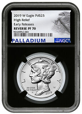 2019 W 1oz HR Palladium Eagle Reverse Proof $25 NGC PF70 ER Blk PRESALE SKU59104