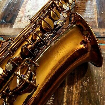 TENOR SAXOPHONE NEW SUPER DEARMAN LATE 30ies ROLLED TONE HOLES READY TO PLAY