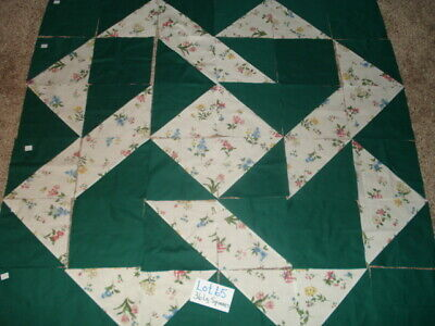 36 LARGE New Pressed Machine Sewn Quilt Squares  Lot  65