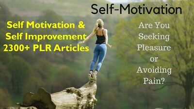 Self Motivation &  Self Improvement 2300 + with Bonus 500+ Fitness PLR articles