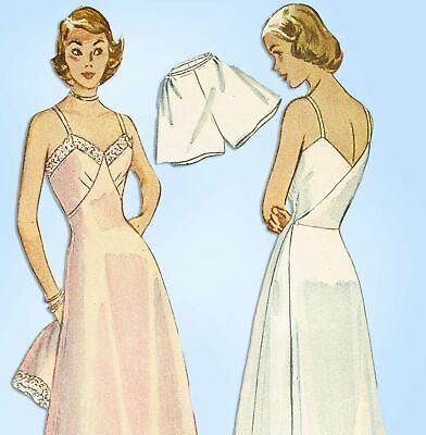 1940s Vintage Simplicity Sewing Pattern 2694 Misses Maternity Slip Size 32 Bust