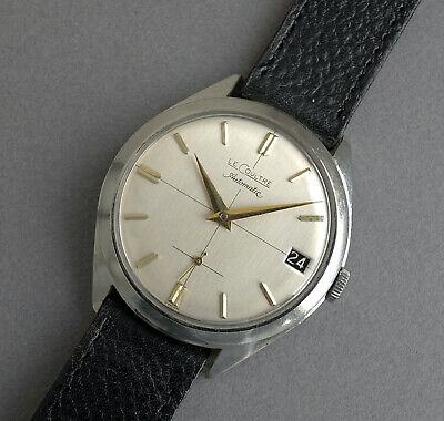 JAEGER LECOULTRE Stainless Steel Vintage Automatic Gents Calendar Watch c1955