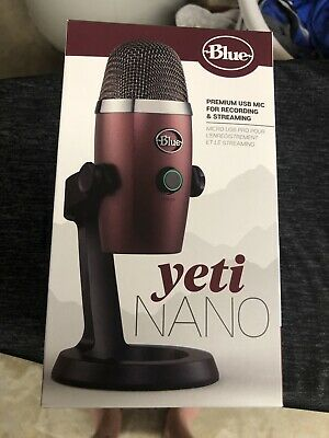New Blue Yeti Nano Premium USB Mic Microphone Streaming Red