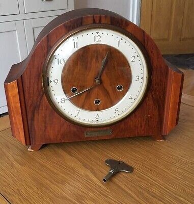 Antique SMITHS 8 Day Chime Mantle Clock