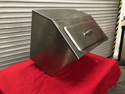 Ice Bin & Lid Insulated Counter Top Stainless Steel Delfield 240 #2673 Bar Drink