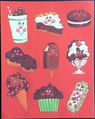 Vintage Scratch & Sniff Stickers - Chocolate - Excellent!!