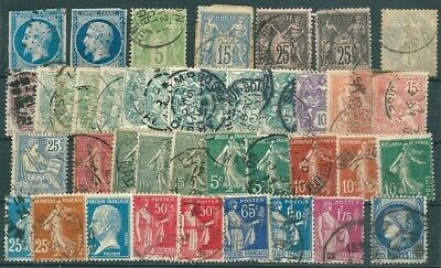 France Nice Lot Of Many Old Stamps Used -Cag 030919