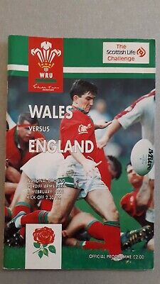 WALES v ENGLAND 18th  February 1995 RUGBY PROGRAMME  @ CARDIFF  Arms Park