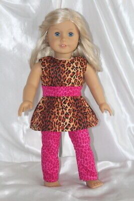 Doll Clothes fits 18inch American Girl Dress Outfit Lot Leopard
