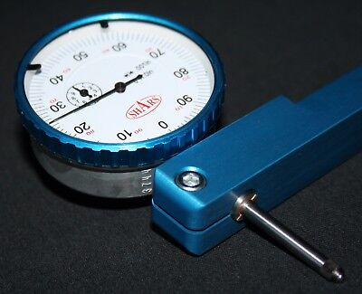 """Engine Lathe Tool Post Dial Indicator Mount Axa Bxa With 1""""Travel Dial Indicator"""