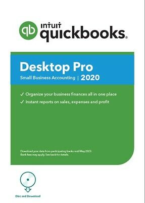 QuickBooks Pro 2020 1-User Download!