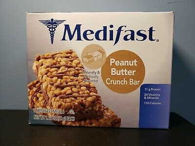 Medifast Peanut Butter Crunch Bar - Full Box 7 Meals - New! Exp 3/4/2020! Sealed