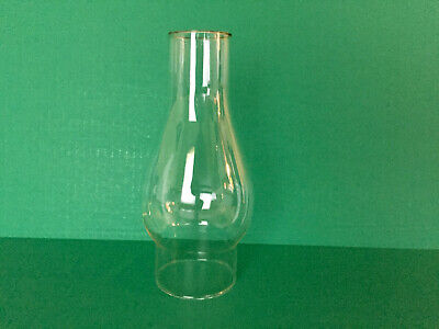 VINTAGE 8.5 X 3 IN Clear Glass Oil Hurricane Lamp Chimney Shade Globe 3IN Fitter