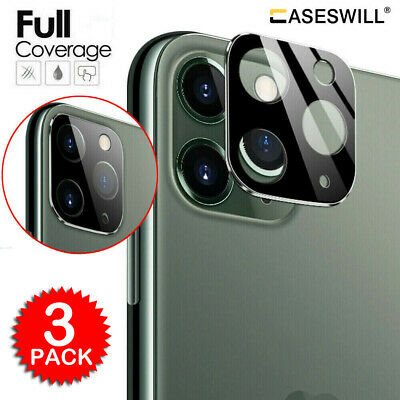 For iPhone 11 Pro X XR XS Max 20D Tempered Glass Camera Lens Screen Protector