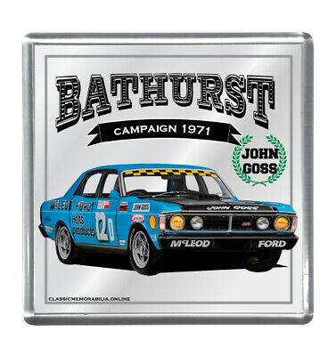 Drink Coaster Mirrored - Suit John Goss Xy Gt Ho Bathurst 1971 Others Available