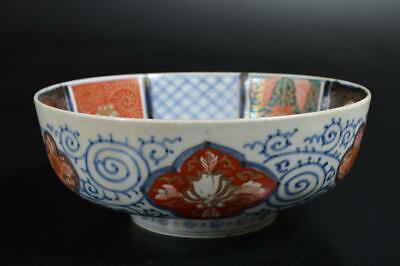 T1621: Japanese Old Imari-ware Kashiki DESSERT BOWL/dish Tea Ceremony