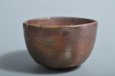 T4309: Japanese Bizen-ware Youhen pattern TEA BOWL Green tea tool Tea Ceremony