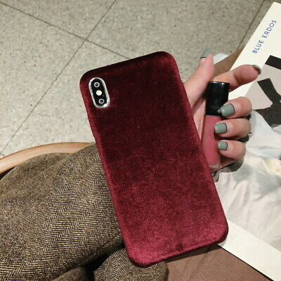 Velvet Luxury Shockproof Hard Back Cover Case For iPhone XS Max XR X 8 7 6s Plus