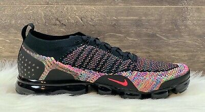Nike Air Vapormax 2 Flyknit Multicolor Running Shoes 942842 017 Men's Size 12.5
