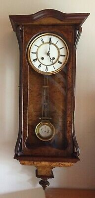 Antique 8 Day  Walnut Vienna Regulator Wall Clock