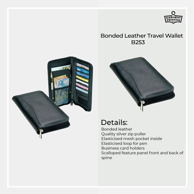Bonded Leather Travel Wallet Passport ID Card Money Holder Cover Purse Case