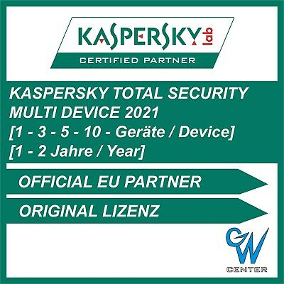 Kaspersky Total Security 2019 / 2020 [1 PC | 3 PC | 5 PC | 10 PC | 1 - 2 JAHRE]