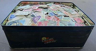 British Empire -  Extensive Collection Of Stamps In Old Tin - 8/10,000