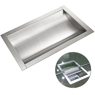 "Cash Window Drop-In Deal Tray 14""(L) x 10""(W) Business Banks 304 Stainless Steel"