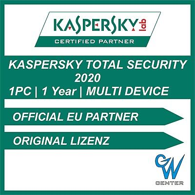 Kaspersky Total Security 2019 / 2020 Multi Device [1 PC | 1 Year] Download