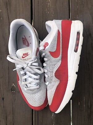 NIKE Nike AIR MAX 1 ULTRA FLYKNIT 843,384 101 sneakers ash Size