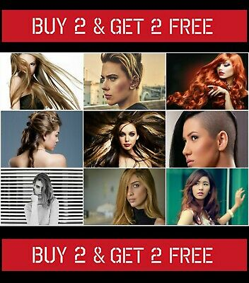 50 Womens Hairstyle Poster Hair Salon Ladies Hairdresser Trendy Wall Art Size A3