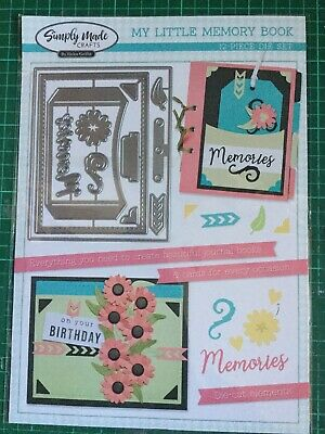 Simply Made Crafts Little Memory Book 12 Piece Cutting Die Set