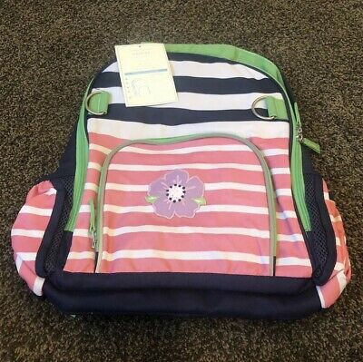 New NWT Girls Pottery Barn Kids Fairfax BACKPACK Large No Monogram Floral Stripe
